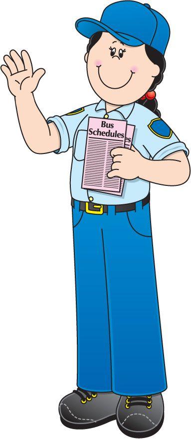Bus driver school learning. Baker clipart community helper