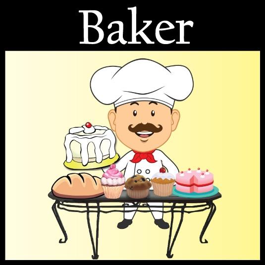 Baker clipart community helper. Kidable pretend play box