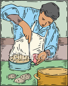 Baker clipart cookie. Making cookies and cakes