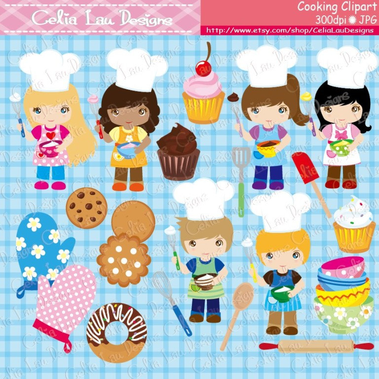 Cooking baking little . Baker clipart cookie