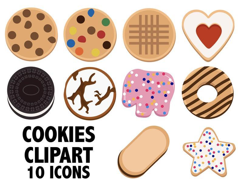 Baker clipart cookie. Cookies bakery icons digital