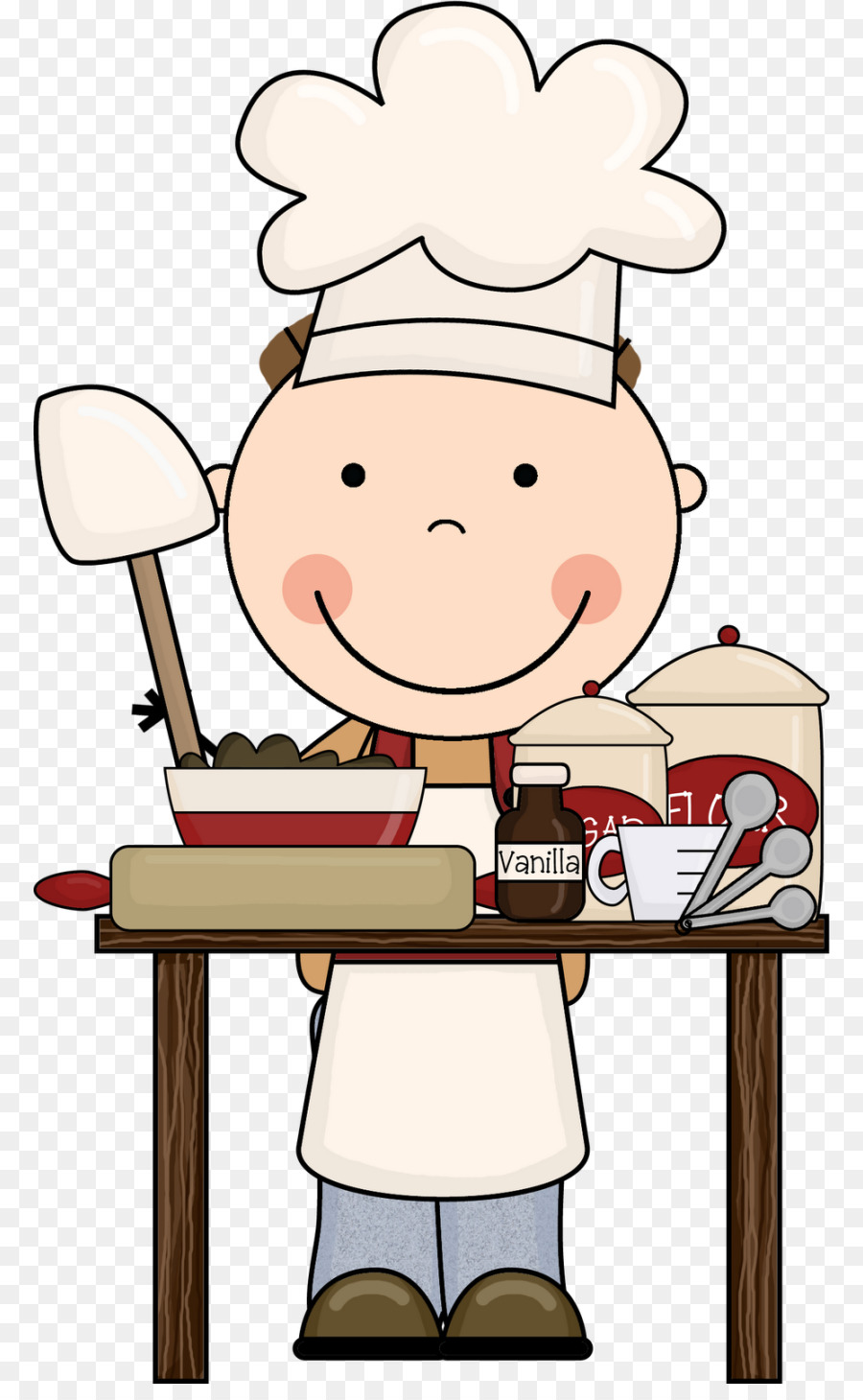 Cooking school baking chef. Baker clipart culinary art