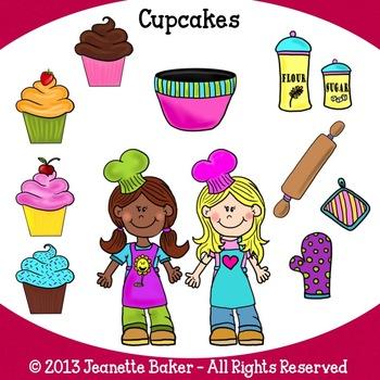 Clip art freebie by. Baker clipart cupcake baker