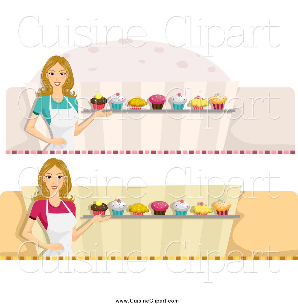 Baker clipart cupcake baker. Cuisine of female website