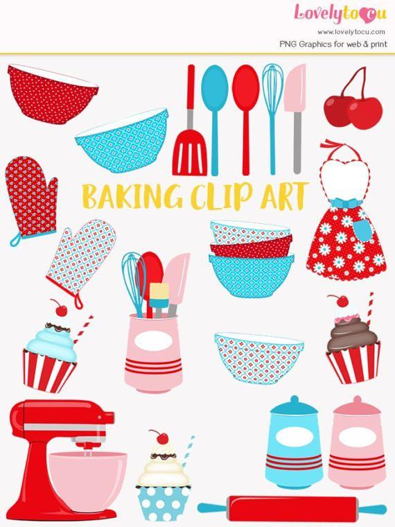 Baker clipart cupcake baker. Baking clip art set