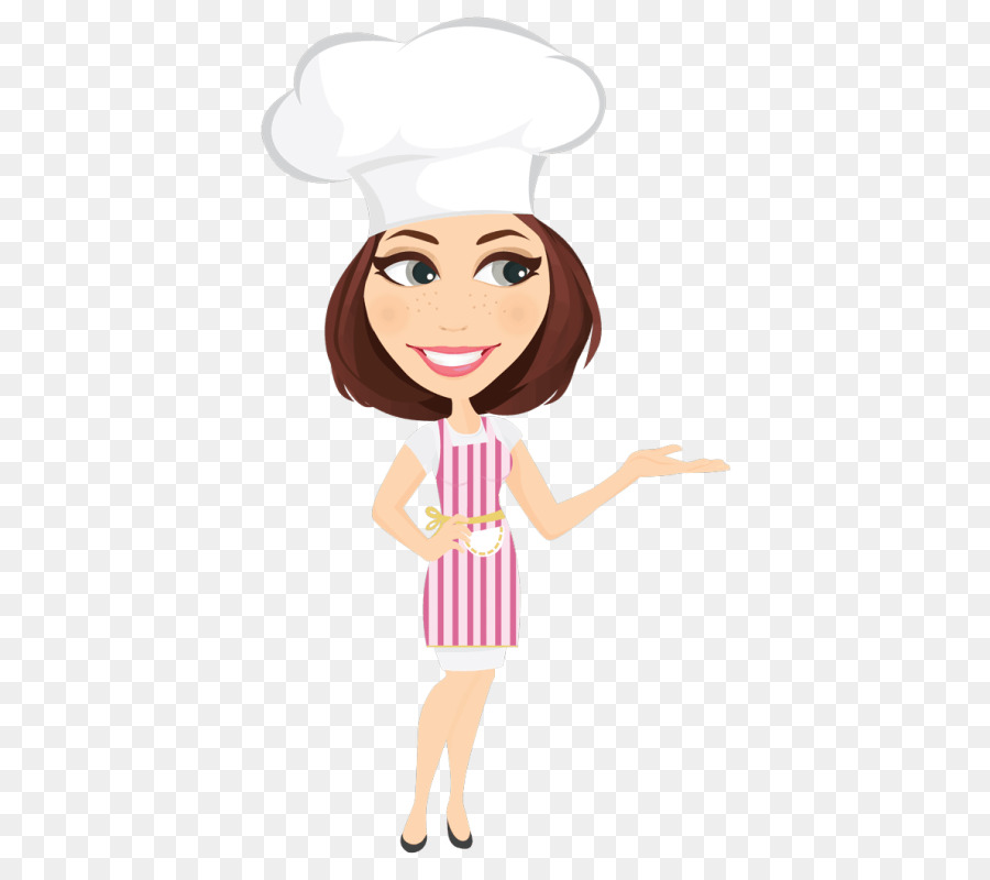 Face cartoon illustration . Clipart woman baker