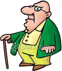 Baker clipart fat. Old bald man royalty