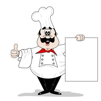Baker clipart fat. Chef cartoon travelling in