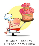 Baker clipart female cake. Caucasian cartoon woman by
