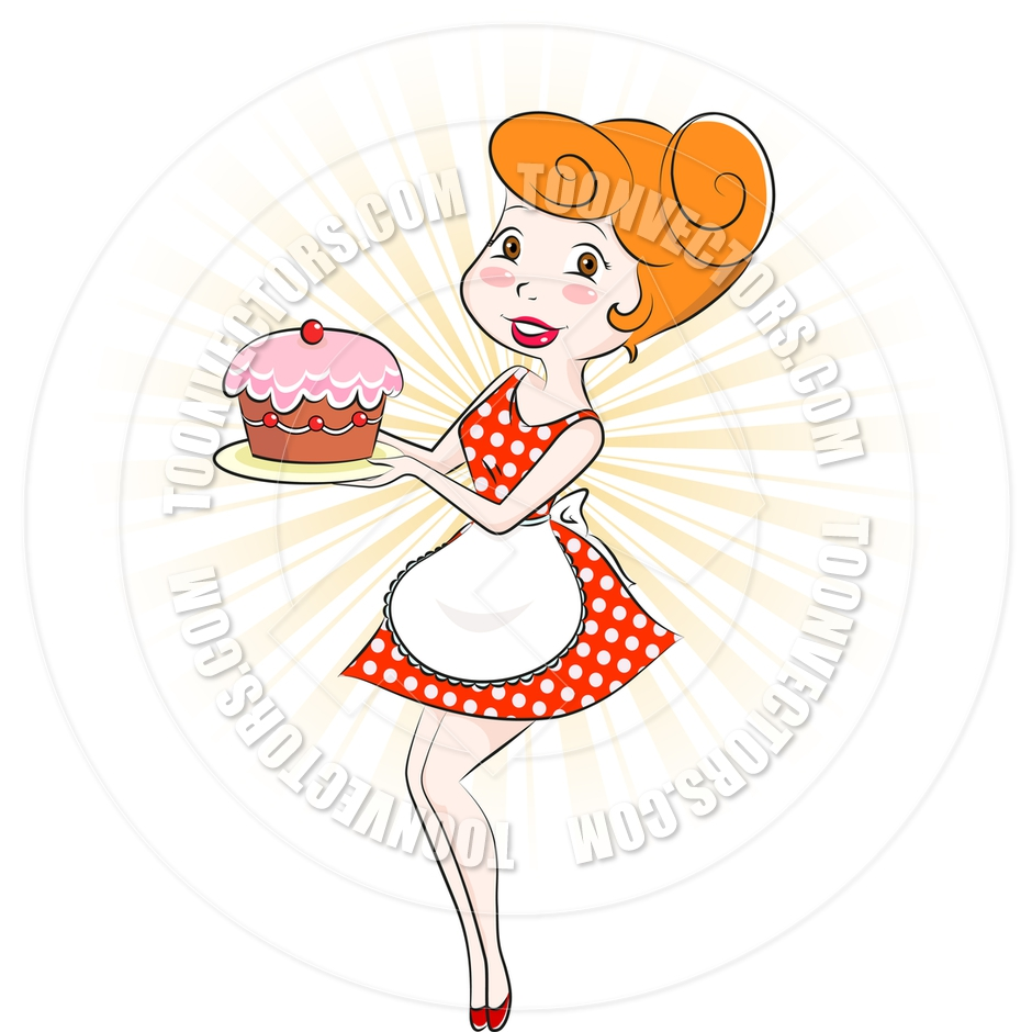 Baker clipart female cake. Lady embed codes for