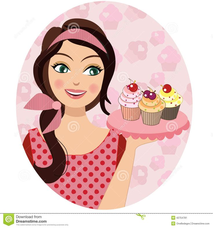 Baking clipart female.  best logo images