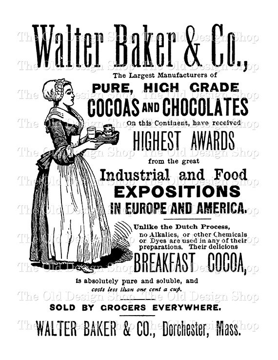 Baker clipart food counter. Walter chocolate ad maid
