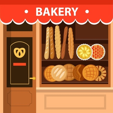 Bakery clipart bakery shop. Free vector download for