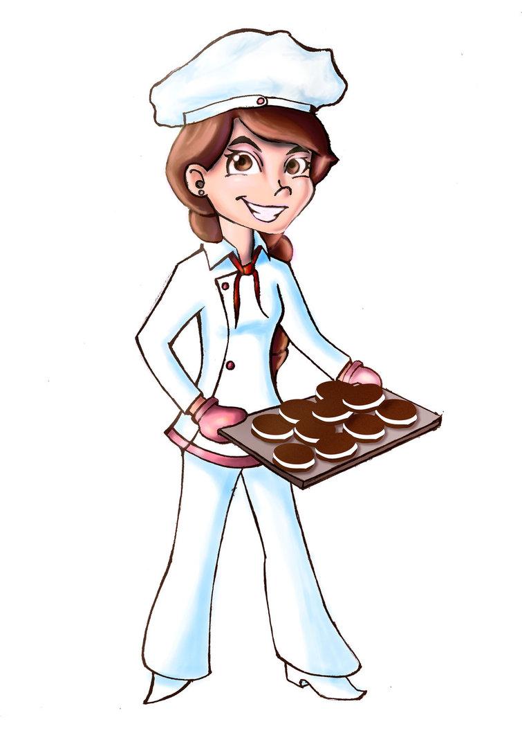 Baker clipart girl baker. Sweet world by hydralisk
