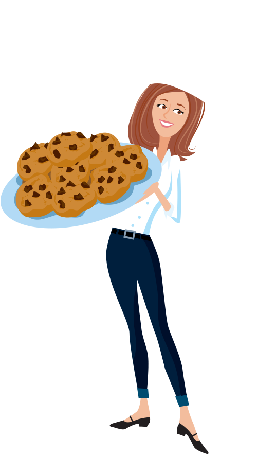 Our story the naked. Baker clipart lady baker
