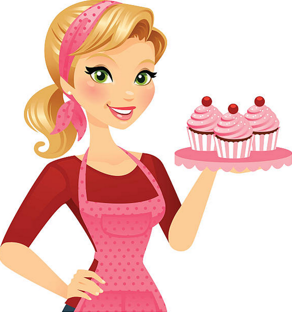 Baker clipart lady baker. About hello cupcake cook