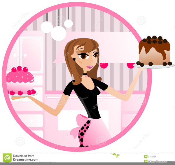 Lady Baker Clipart