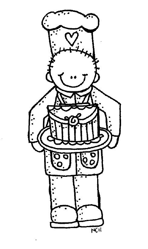 Baker clipart line drawing. Melonheadz professionals