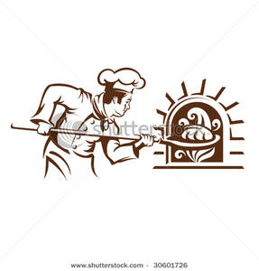 Baker clipart line drawing. Clip art image a
