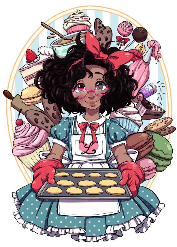 Girl by rap on. Baker clipart little baker