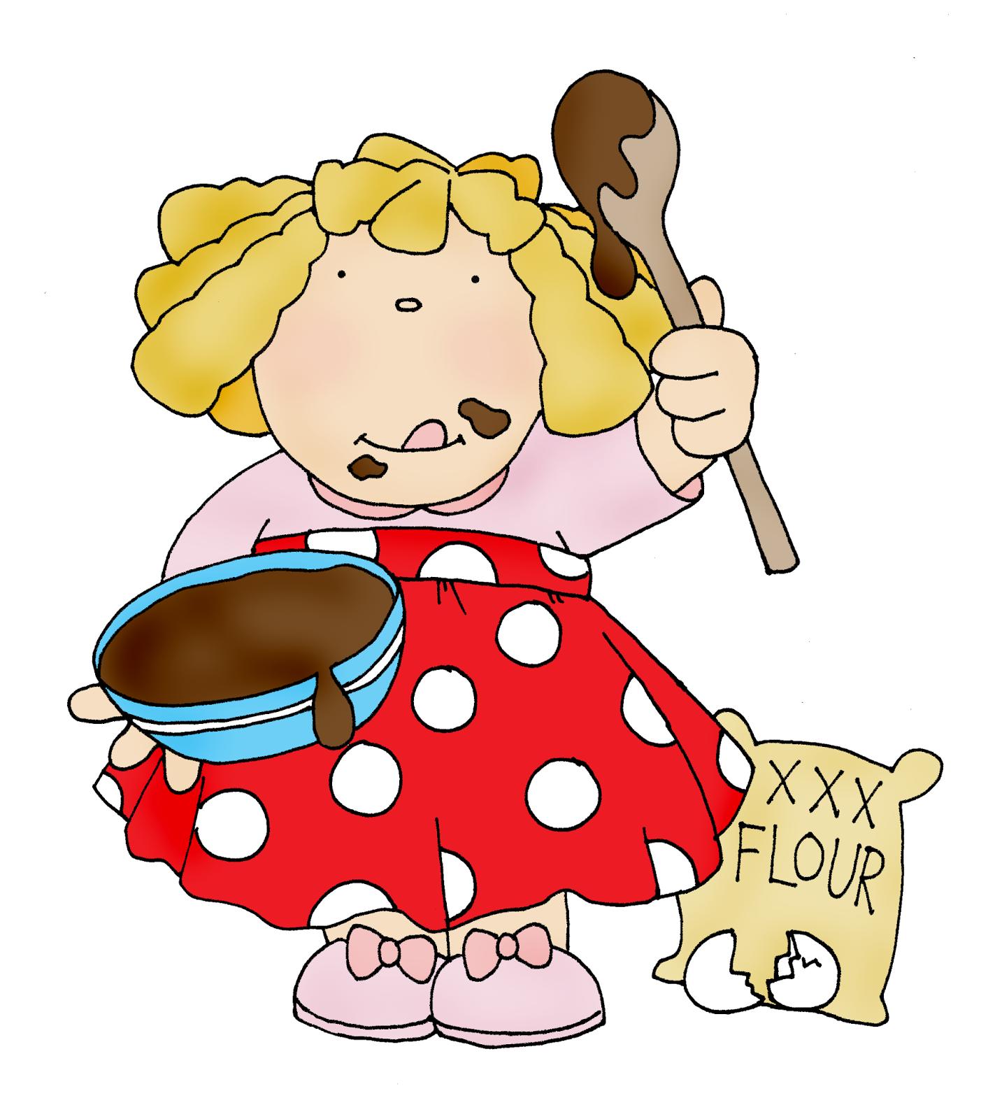 Baker clipart little baker. Free dearie dolls digi