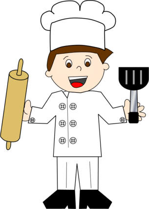 Or chef paper craft. Baker clipart little baker