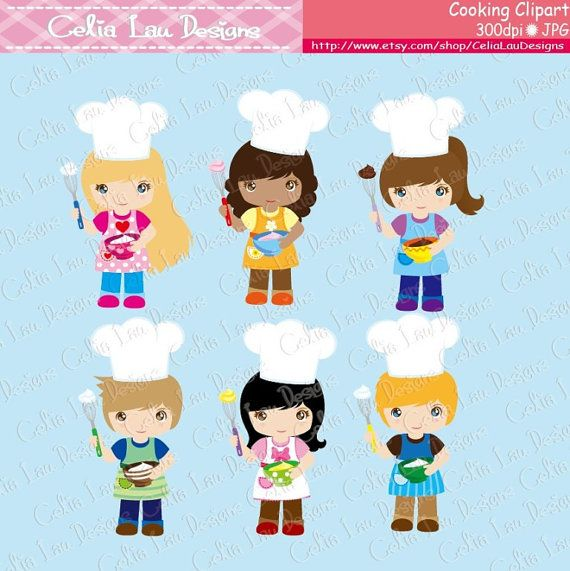 Cooking baking invitation. Baker clipart little baker
