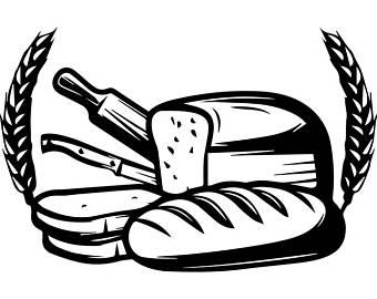 Baker clipart logo. Bakery black and white