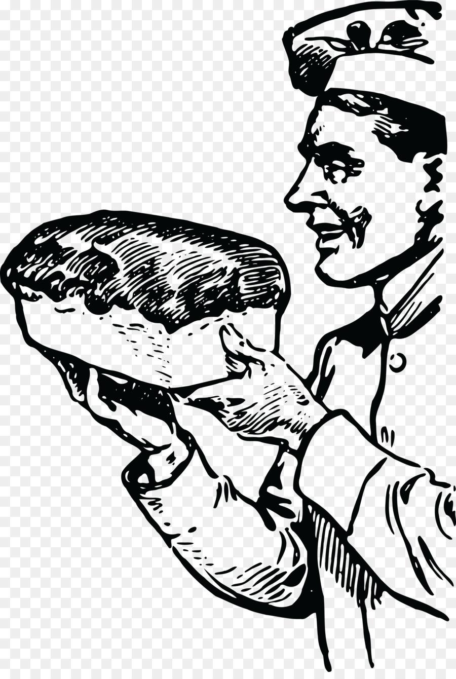Baker clipart male. Bread loaf clip art
