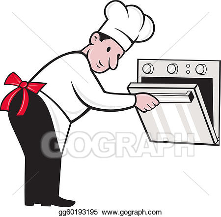 Baker clipart male. Clip art cartoon chef