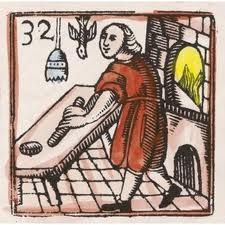 Baker clipart medieval. Portable pie oven and