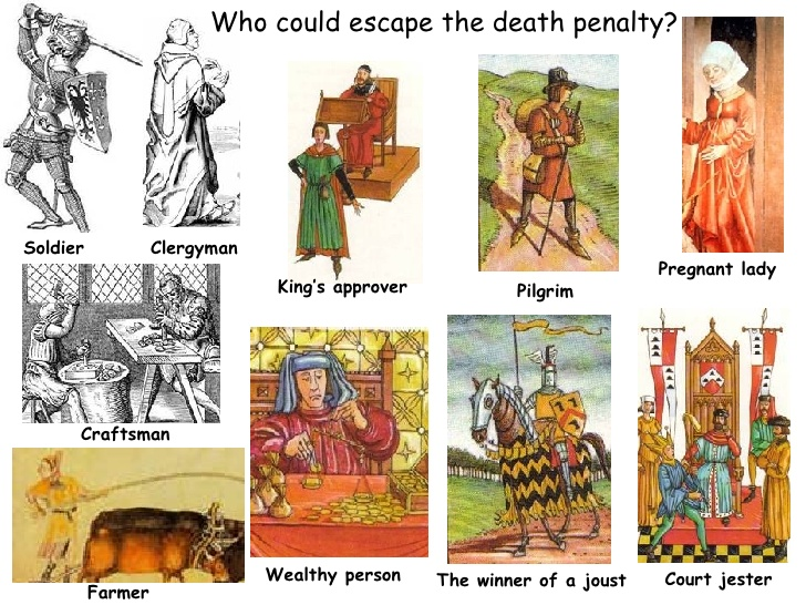 Avoiding punishment in england. Baker clipart medieval