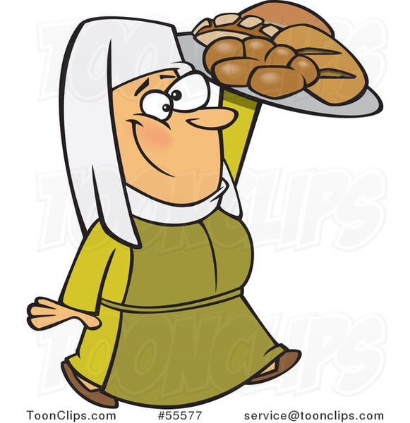 Baker clipart medieval. Cartoon happy castle lady