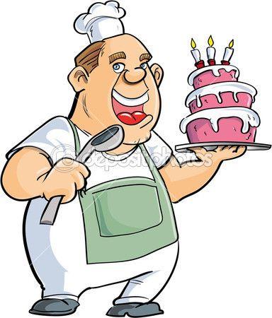De dibujos animados con. Baker clipart panadero