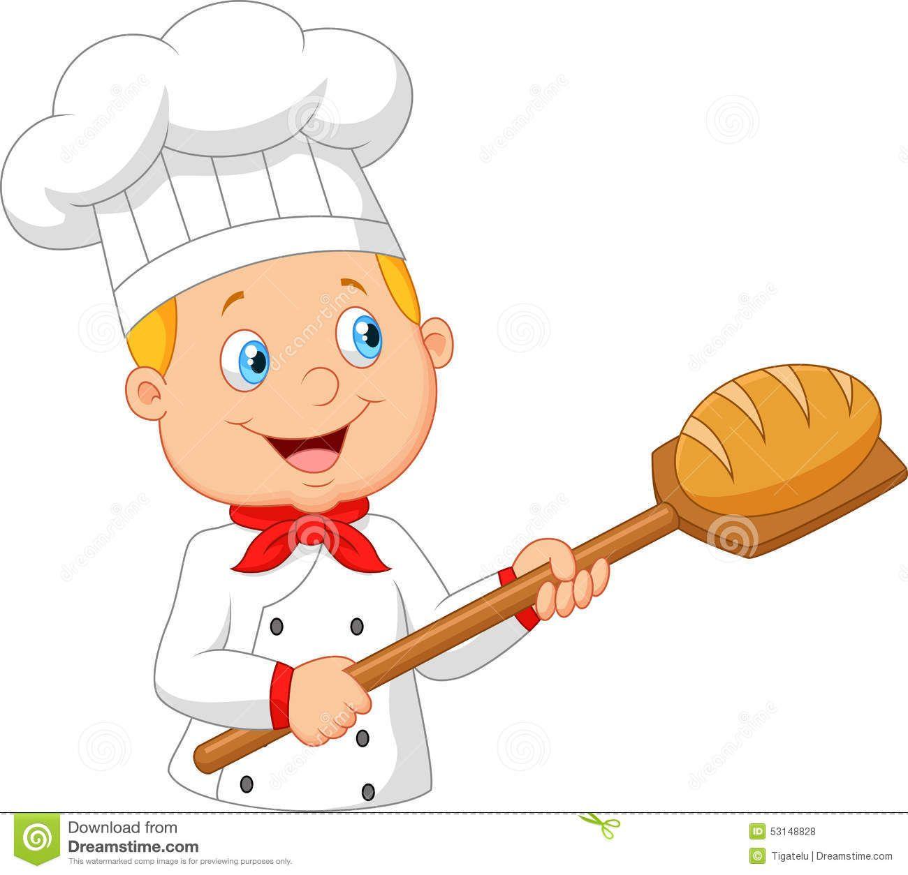 De historieta sostiene un. Baker clipart panadero
