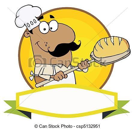 Baker clipart panadero. Vector hispano tenencia bread