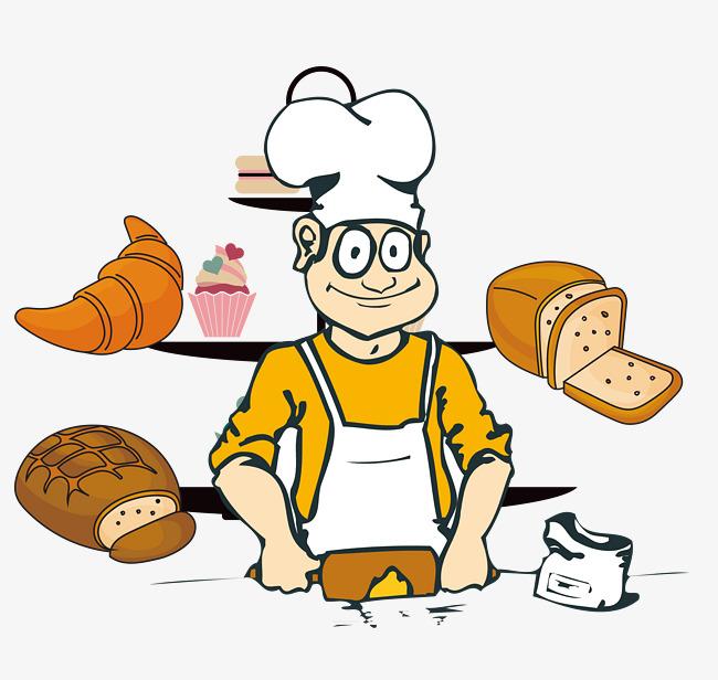 Vector material is working. Baker clipart panadero