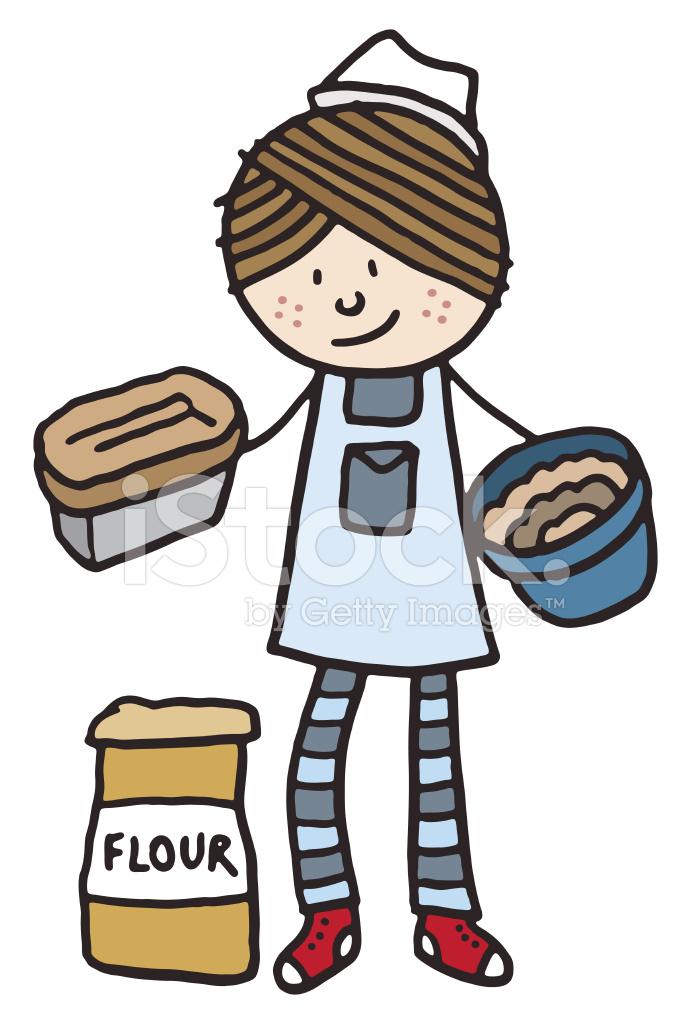 Baker clipart panadero. Stock vector freeimages com