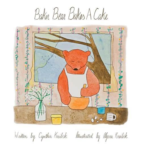 Bear bakes a cake. Baker clipart panadero