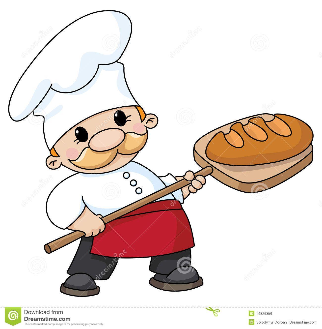 Baker clipart panadero. Mostrando un gran pan