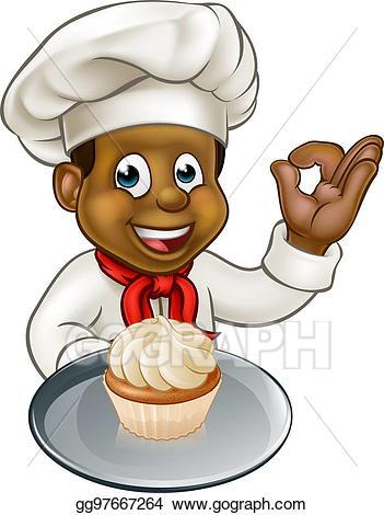 Baker clipart pastry. Eps illustration cartoon chef