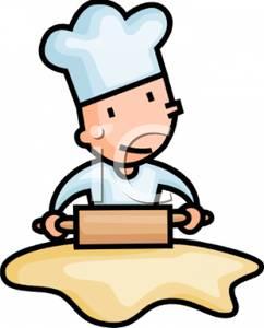Bakery clipart rolling pin. Cartoon of a baker