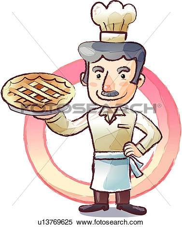 Baker clipart pie. Pencil and in color