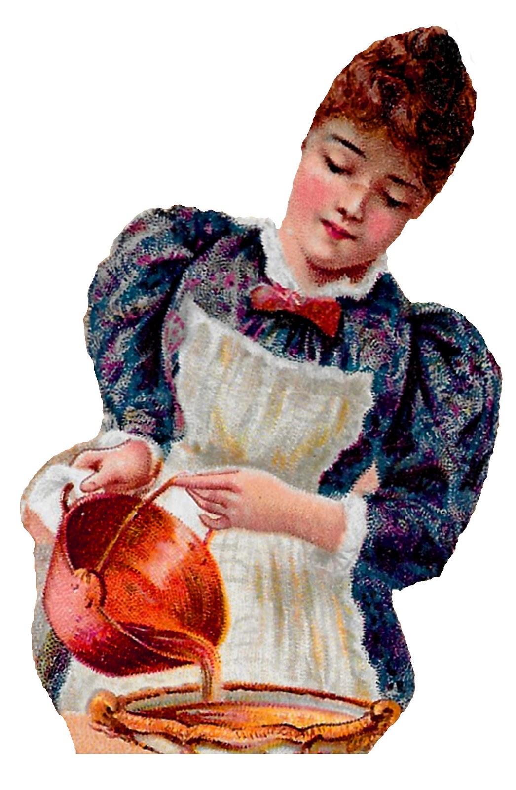 Antique images free downloadable. Baker clipart pie