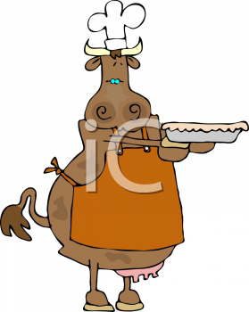 Cartoon picture of a. Baker clipart pie