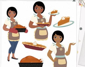 Baker clipart pie. Pumpkin woman character patch