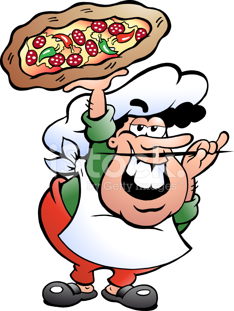 Baker clipart pizza. Illustration of an italian