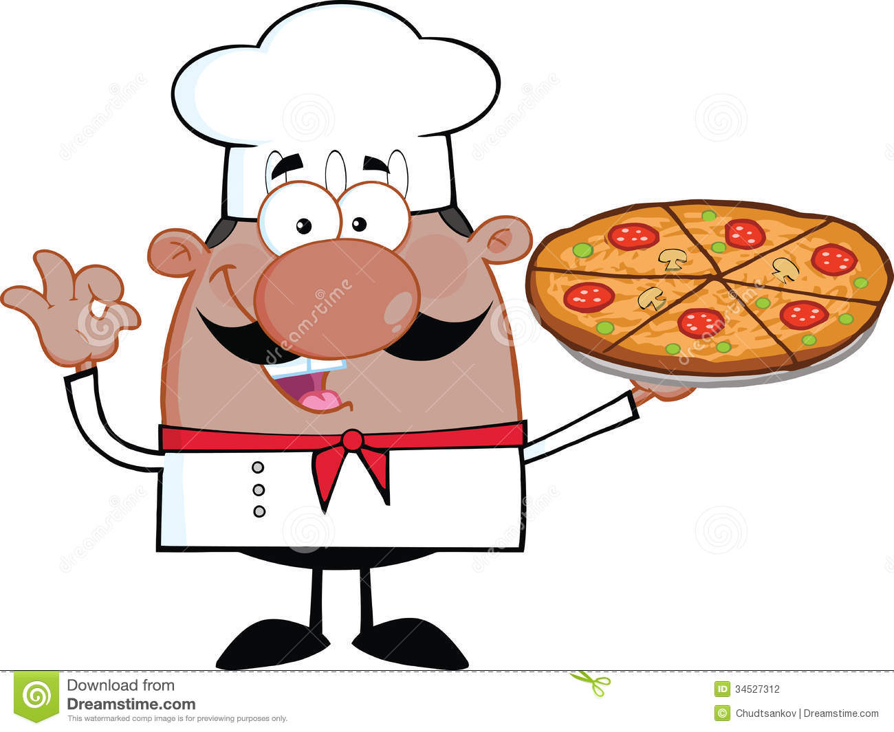 Baker clipart pizza. Pie cartoon panda free