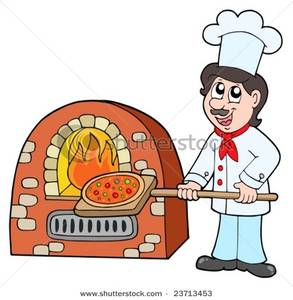 Baker clipart pizza. Royalty free image chef