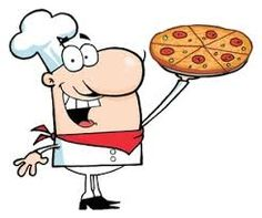 Baker clipart pizza. Slice cartoon giving thumb